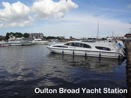 The moorings at Oulton Broad Yacht Station