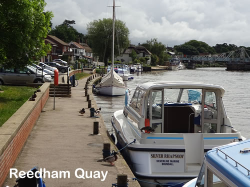 The moorings at Reedham Quay