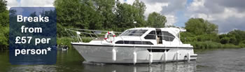 Norfolk Broads hire cruiser