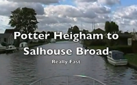 Potter Heigham to Salhouse Broad - fast! video